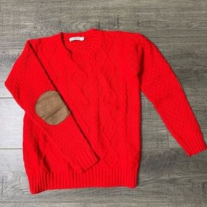 Women's red knit sweater